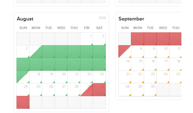 Set your home's availability with our easy-to-use calendar