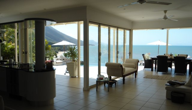 Stunning open plan house with ocean views and private track to the beach